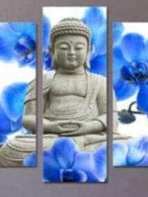 Boedha blauwe bloemen