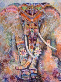 Zacht gekleurde Olifant