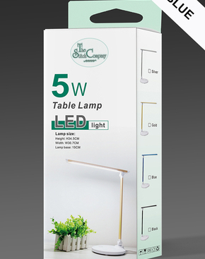 LED licht tafellamp Blauw