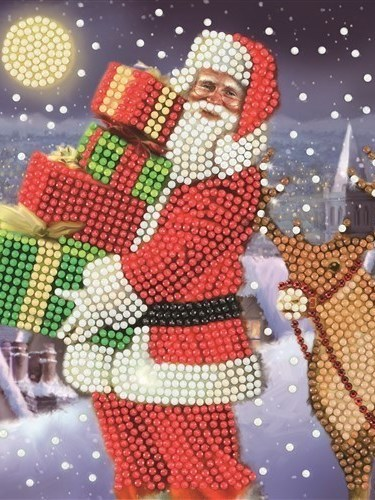 kerstman met pakjes