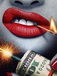 rode lippen met vuur