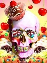 Skull met snoepjes