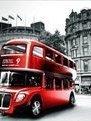 rode bus in Londen