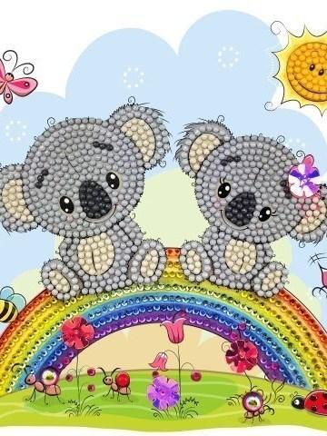koalas op regenboog