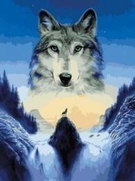 Wolf in maan zicht